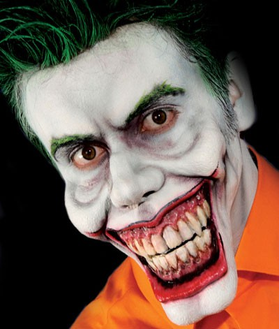 sale funny face joker clown foam latex prosthetic mask: fxwarehouse
